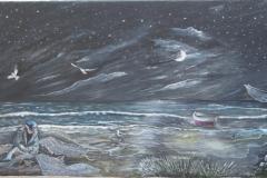 Alba Carafa, Pescatore_Trabocco,30cmx20cm, 800 Euro