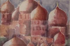 Mosca, acquerello 70x70, 550 euro