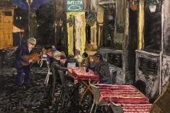 L'artista di strada - the busker, 80x60 cm, 1700 eur