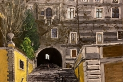 La salita dei Borgia - the Borgia Steps, 80x60 cm, 1700 eur