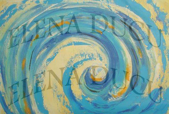 Wave, technique oil on cloth, 50x60 cm