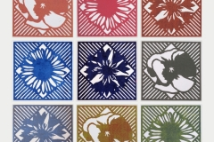Kamil Baś - Flower Arrangement (II) - 70x70 cm - 2021