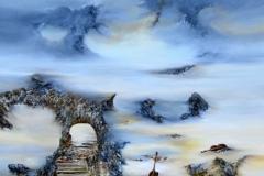 2012---Huile-100-x-100-Les-marches-ce-uelestes