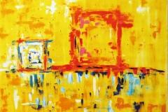 5.2--Riflesso-d'anima-a-tramonto-1,-anno-2008,-dimensione-150x150-cm,-tecnica-olio-su-tela