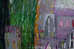 Rain 2020, acryl on wood. 60x80 cm