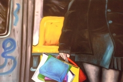 au bonheur des dames, 60x90 cm, oil painting on canvas