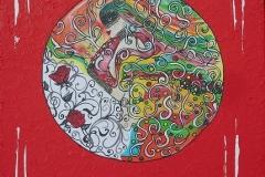 Bild 4, Maße 50 x 50 cm, Acryl-Spachteltechnik