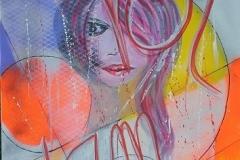 Bild 6, Maße 80 x 60 cm, Acryl-Spray